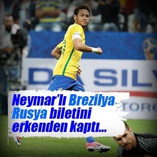 Brezilya, Rusya biletini erkenden kaptı!