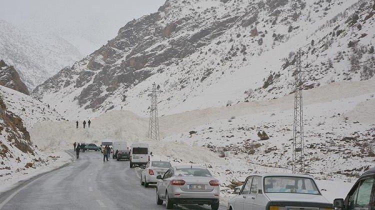 Çatak-Van yolu çığ düşmesi sonucu ulaşıma kapandı