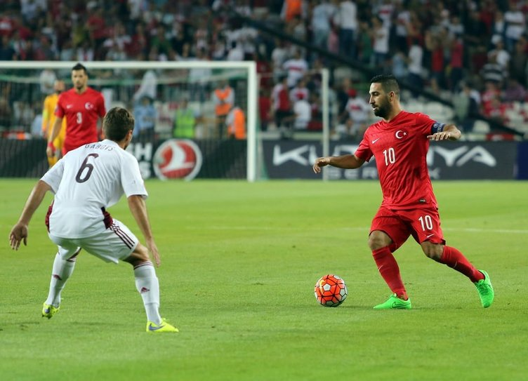 Türkiye Letonya maç fotoğrafları