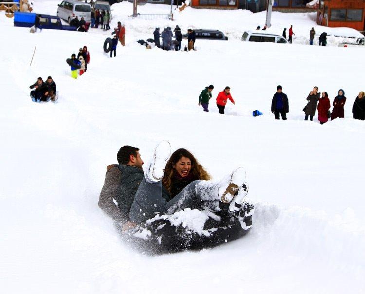 Ayder kış güzelliğiyle ilgi çekiyor