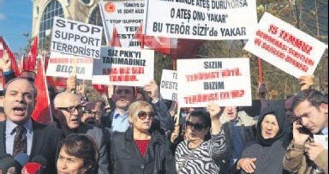 Avusturya'ya protesto: Hepiniz ikiyüzlüsünüz