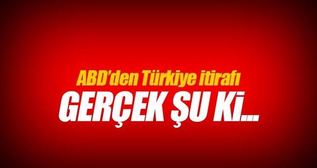 ABD'den Türkiye itirafı!