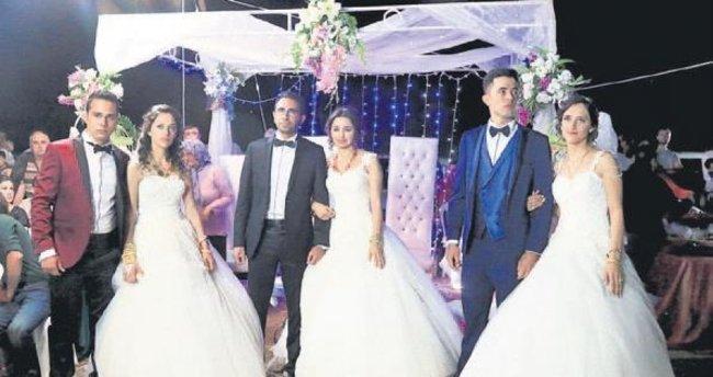 3 gelin, 3 damat, 1 düğün