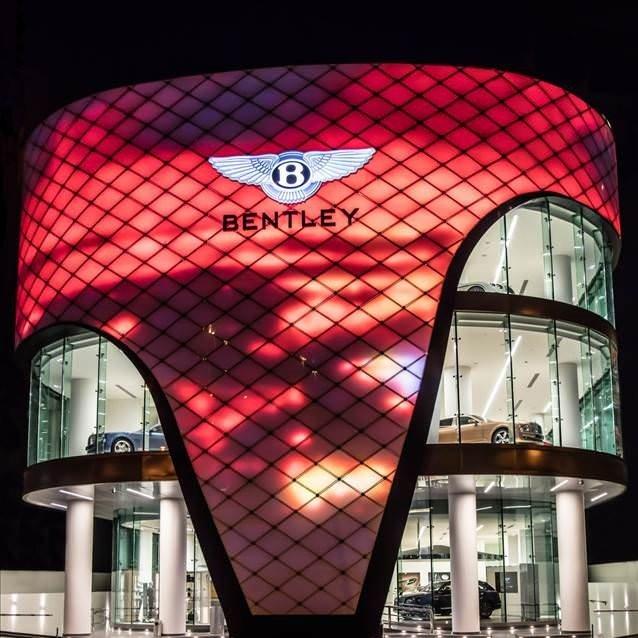 Dünyanın en büyük Bentley Showroom'u açıldı