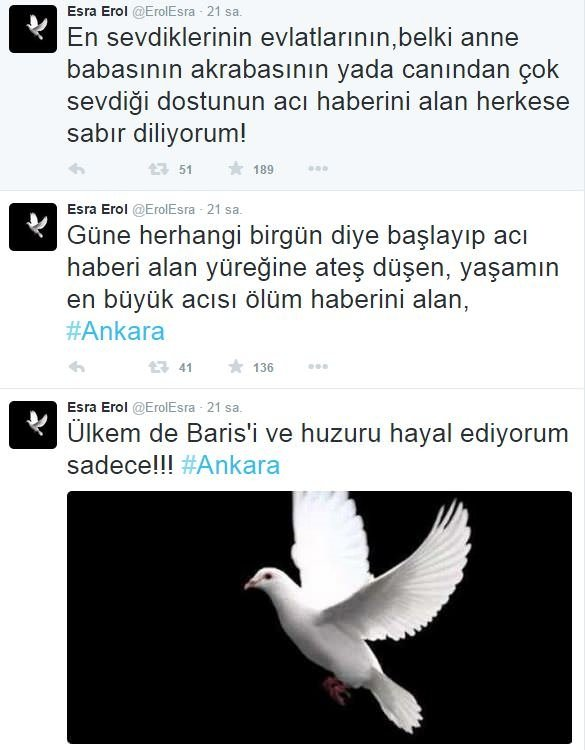 Ünlülerin Ankara tepkisi