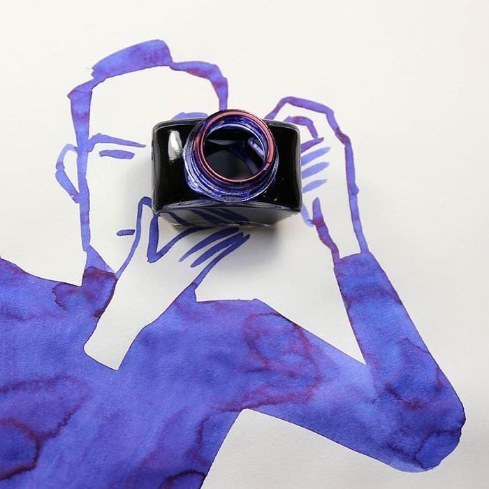 Çizimlerini Nesnelerle Birleştiren Tasarımcıdan 15 Harika Resim