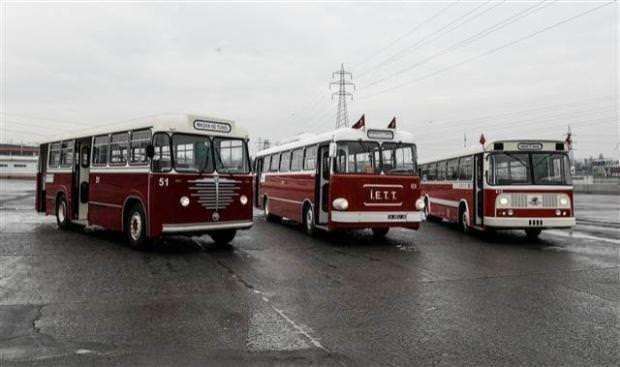 İETT'nin nostaljik araçları yeni yılda yollarda