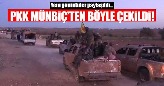 YPG Münbiç'ten ayrılışın görüntülerini paylaştı