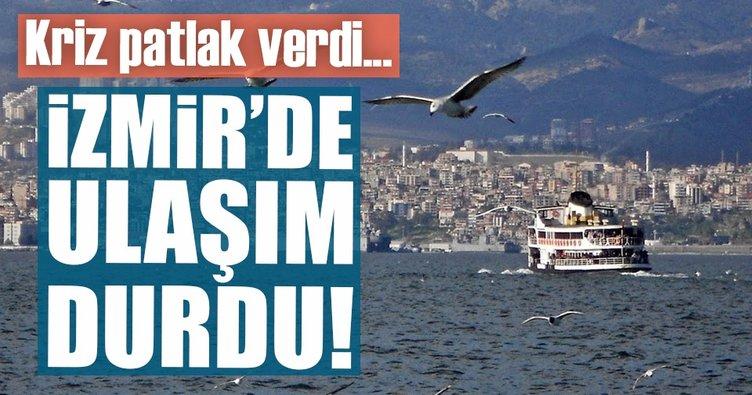 Son dakika...İzmir'de deniz ulaşımı durdu!