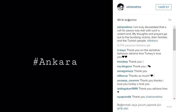 Adriana Lima'dan olay paylaşım