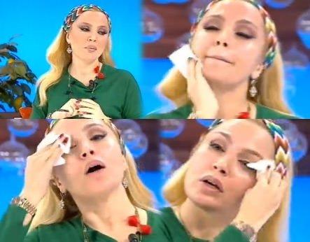 Lerzan Mutlu canlı yayında makyajını sildi