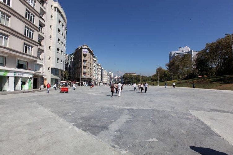 Taksim'de trafik yer altına indi