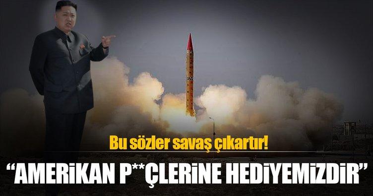 Kim Jong Un: Geliştirdiğimiz füzeler Amerikan p**lerine hediyemizdir