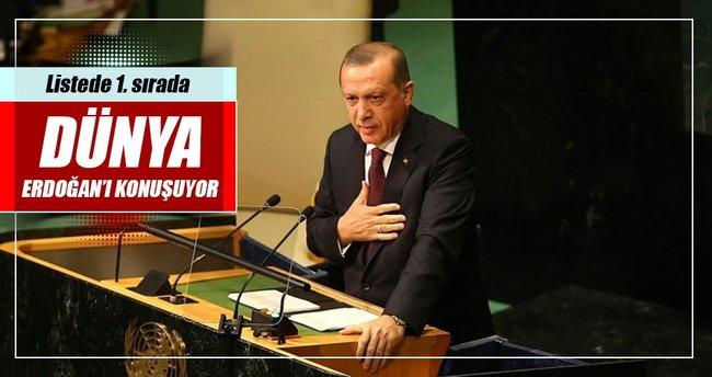 Dünya Cumhurbaşkanı Erdoğan'ı konuşuyor
