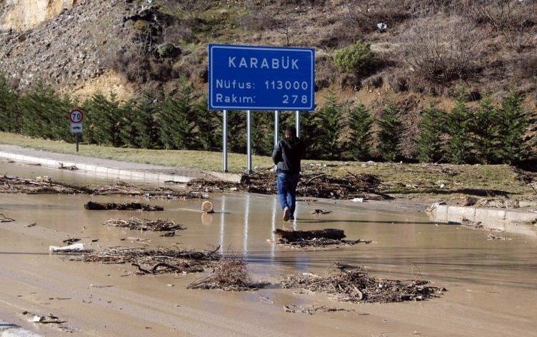 Karabük'te sel felaketi