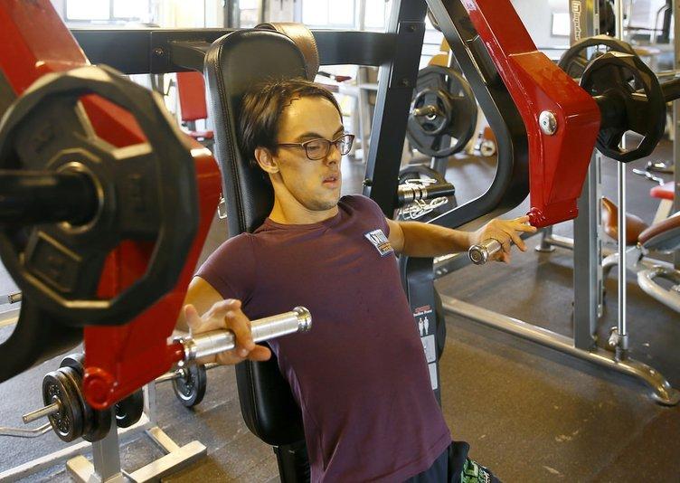 Down sendromlu vücut geliştirmeci hedef büyüttü