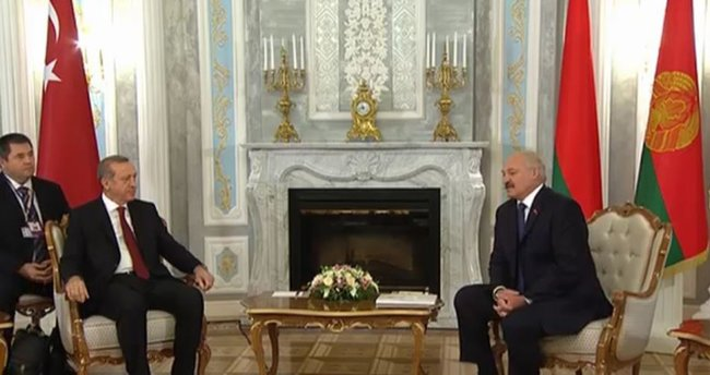 Cumhurbaşkanı Erdoğan Belarus'a geldi