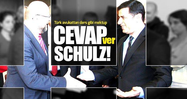 Türk avukattan Martin Schulz'a ders niteliğinde mektup