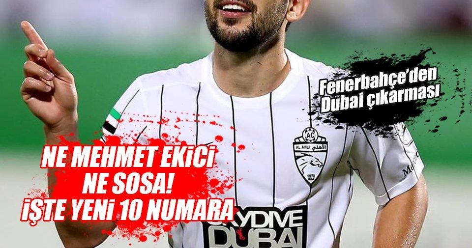 Fenerbahçe, Sosa ve Mehmet Ekici'nin alternatifini buldu