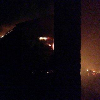 Bursa'da mandıra yangını