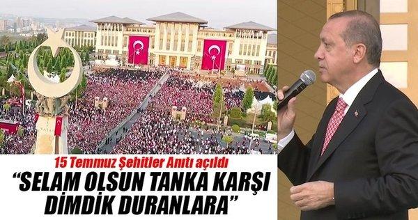 Cumhurbaşkanı Erdoğan Ankara'daki Şehitler Anıtı'nın açılışını yaptı