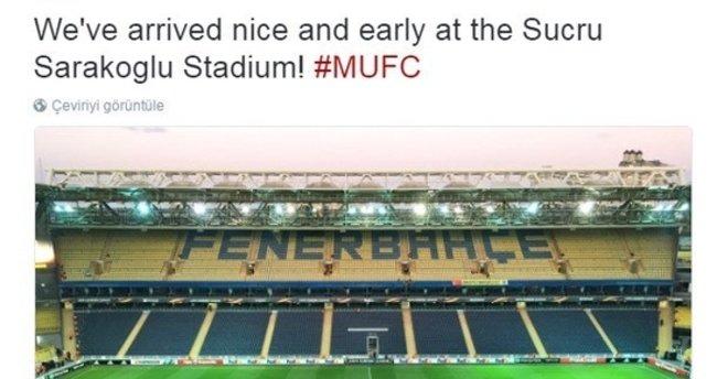 Manchester United'dan Fenerbahçe maçı öncesi stat gafı!