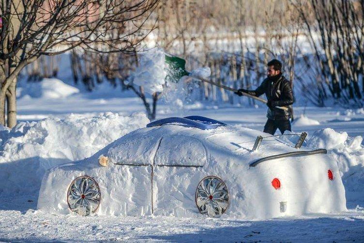 Kardan adam yerine 'Kardan Araba'