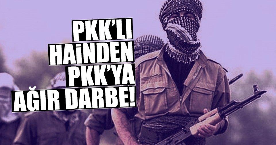 Yakalanan PKK'lı hainin gösterdiği yerde...