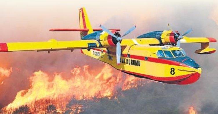 Ormanın Ateş Kuşları yangın savaşına hazır