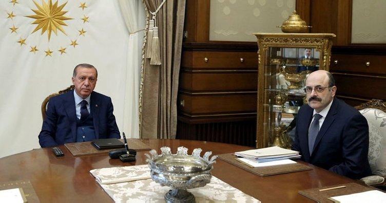 Cumhurbaşkanı Erdoğan, YÖK Başkanı Prof. Dr. Saraç'ı kabul etti