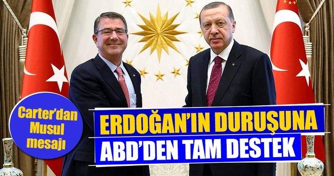 Erdoğan'ın Musul duruşuna ABD'den tam destek