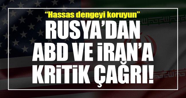 "Rusya'dan ABD ve İran'a ""Hassas dengeyi koruyun"" çağrısı!"