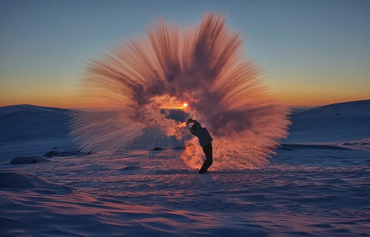 Çılgın Fotoğrafçıdan -40 Derecede Muhteşem Şov