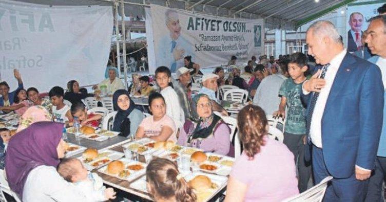 Başkan Kadir Kara Ramazan çadırında
