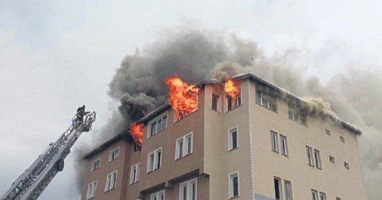 Burdur'da kapatılan dershanede yangın