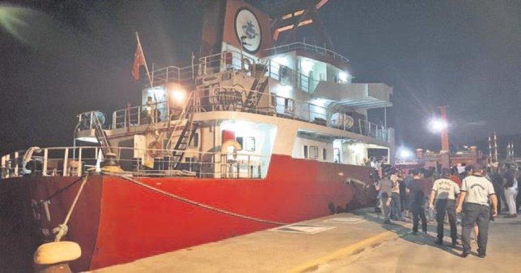 Türk gemisine Yunan ateşi