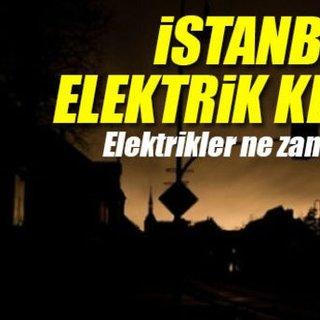 İstanbul'da elektrik kesintisi - Elektrikler ne zaman gelecek 16 Ocak
