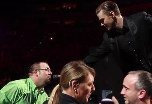 Justin Timberlake konserinde evlenme teklifi