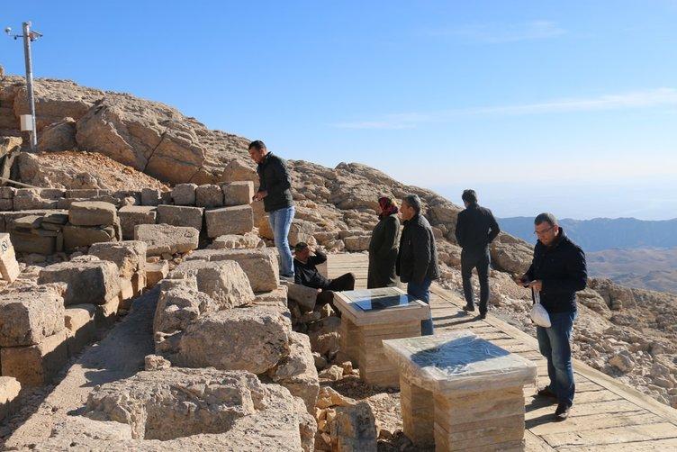Güzel havalar Nemrut'a ilgiyi artırdı