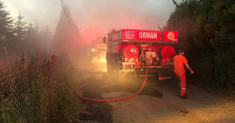 Sakarya'da fabrika bahçesinde yangın!