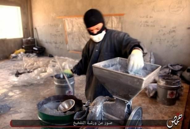 IŞİD'ın 'bomba üretimi' görüntülendi