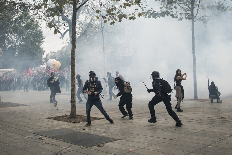 Fransa'da çalışma yasası protestosu