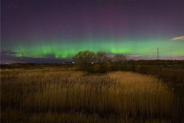 Doğa fenomeni kuzey ışıkları