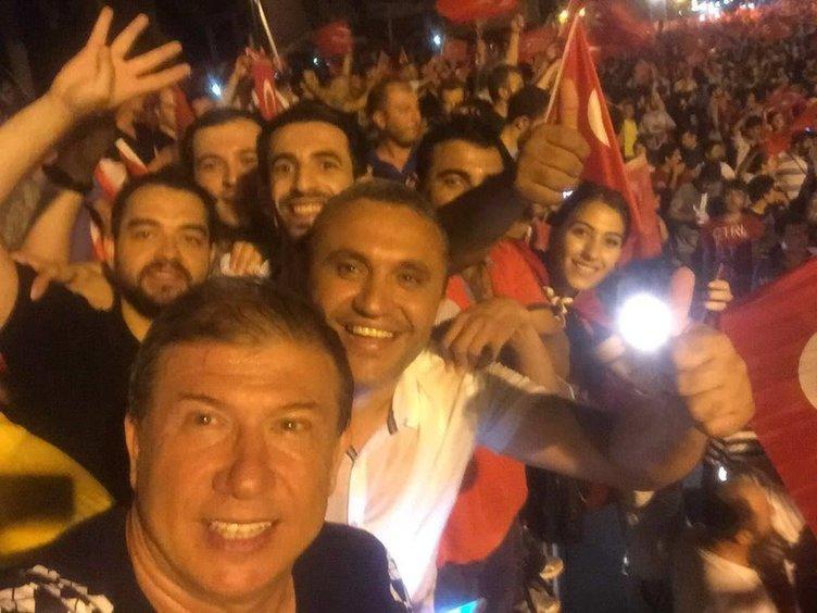 Tanju Çolak, FETÖ'cü kalkışmaya karşı sokağa çıktı!
