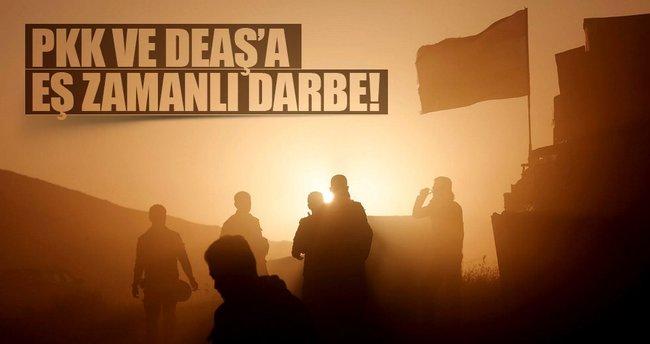 Fırat Kalkanı'nda DEAŞ ve PKK'ya eş zamanlı darbe