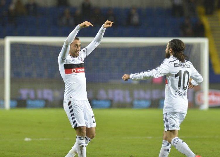 Beşiktaş - Akhisar Belediyespor maçından kareler