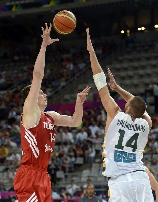 Litvanya - Türkiye maçının fotoğrafı