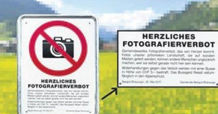 Bu kasabada fotoğraf çekene beş euro ceza