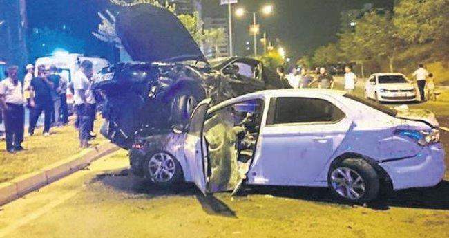 Mersin'de film sahnesini aratmayan bir kaza oldu