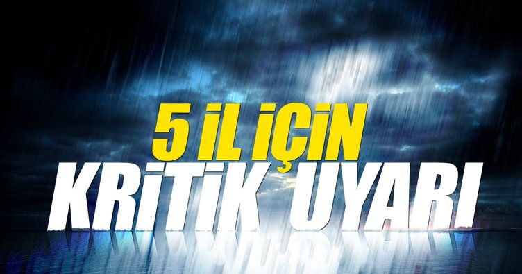 Meteoroloji İstanbul için saat verdi! Çok kuvvetli yağış uyarısı...